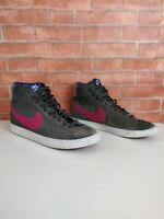 GIRL'S KIDS NIKE BLAZERS GREY PINK HIGH TOP TRAINERS SNEAKERS UK 5.5 EU 38.5