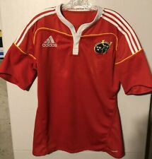 Vintage Mens Adidas Munster Rugby Jersey Red/White M