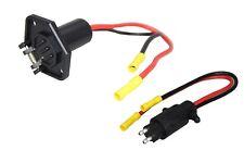 Pactrade Marine Boat Trolling Motor Plug & Socket Set 12V 2-Wire 10 Gauge