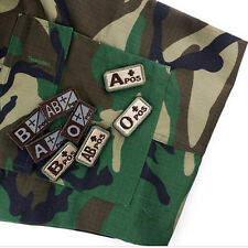 Creative Military Blood Types A B O AB Embroidered Patch Tactics Armband Badge