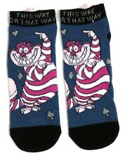 LADIES DISNEY THE CHESHIRE CAT SHOE LINERS SOCKS UK 4-8 EUR 37-42 USA 6-10