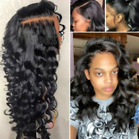 Loose Water Wave Pre Plucked Full Lace Front Wig Peruvian Virgin Human Hair Wigs