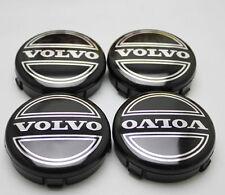 4 x VOLVO roue en alliage hub cap badge emblème centre couleur noir 64 mm 3546923 UK