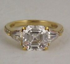 Sterling Silver Cubic Zirconia Cushion Cut Stone Ring Size 8.25