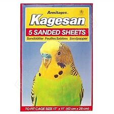 "5 Armitages Sanded Bird Cage Sheets 17"" x 11""  43cm x 28cm Budgie Finch Canary"