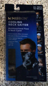 NEW MISSION COOLING NECK GAITER-CLOUD QUIET SHADE-Makes A Great Face Mask!