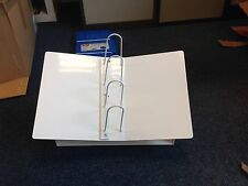 Counter Top Catalogue Stand White Metal Book Mount. Retail Display Book Binder