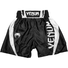 Venum Kids Elite Boxing Shorts - Black/White