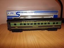 Ab67: K-Line O Gauge Reading Company - Pottsville Passenger Coach  - Exc/boxed