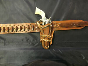 Leather Western Gun Belt and Holster