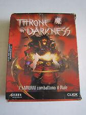 Throne of Darkness PC CD ROM BIG BOX Versione Italiana COMPLETO