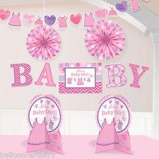 10 pieza Pink Girl's New Baby Shower Con Amor Salón De Fiestas Decoración Kit