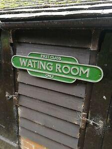 First Class Waiting Room sign WATING Totem British Rail train railway BR VAC239
