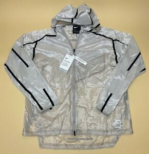 NEW! Nike Tech Pack Men's Running Jacket Moon Particle / Black AQ6711 286 Size M