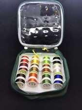 12x Carrete de Hilo Dental, Floss, en Bolsa Plástico Protectora, Multicolor
