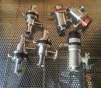 norcal mdc hps kf25 right angle vacuum valves - uhv vacuum varian conflat mks