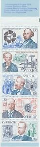 Sweden 1976, Pioneers of The Technology, Mint Cab Stamp Booklet 6.50 Kr Variety