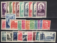 FRANCE: ANNEE COMPLETE 1948 DE 30 TIMBRES NEUF** N°793/822 Cote: 62€
