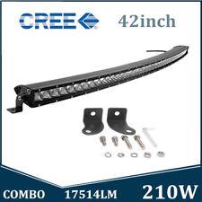 42inch 210W CREE Curved LED Light Bar Single Row Slim Lamp SUV 4X4 Combo JEEP
