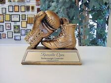 Antique Bronze Finish Resin Boxing Trophy Fighting Sculpture Award M*Rf1330B