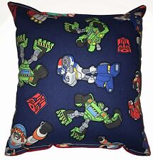 Rescue Bots Pillow Transformers Pillow Cartoon Handmade In USA