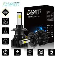 2x H7 LED Headlight Conversion 6000K 180W 585000LM 4-Sides Beam Bulbs High Power