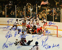 1980 USA Hockey Team Autographed Miracle on Ice 16x20 Photo - 15 Sigs Fanatics