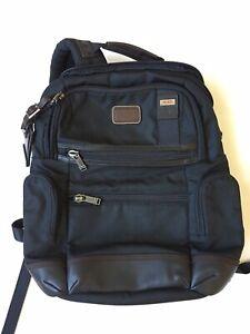 Tumi Alpha Bravo Knox Backpack Laptop Bag Nylon Leather Black 222681HK2