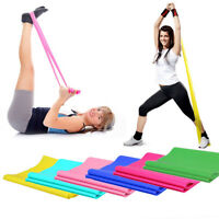 Elastic Yoga Pilates Rubber Stretch Resistance Exercise Fitness Band Strap 1.2m