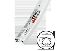Weinmann 520 Alloy Bicycle Rim 24 x 1 3/8 in 36H Silver WR 50
