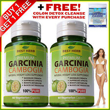Garcinia Cambogia Capsules Ultra Pure 3000mg Daily Slimming 95% Weight Loss Diet