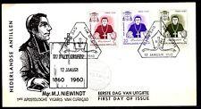 Dutch Antilles - 1960 Mgr. Niewindt -  Mi. 106-08 clean FDC (E14)