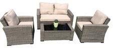 Garten-Lounge-Sets aus Polyrattan mit 5 Teilen