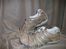 *USED* *WORN* SKECHERS WOMENS SIZE 6 BROWN SUEDE WALKING SHOES OXFORDS