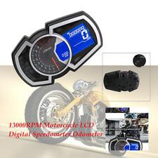 13000RPM Motorcycle LCD Digital Speedometer Odometer Backlight Meter Instrument