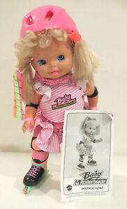 Vintage Mattel Baby Rollerblade Doll from 1991 - Excellent, Tested & Works Great