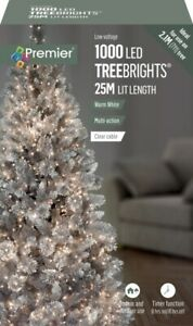 1000 LED TreeBrights Christmas Tree Lights Timer with Clear Cable - WARM WHITE