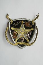 #2440 Western Cowboy Star,Rope Badge Embroidery Iron On Applique Patch