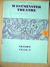WESTMINSTER THEATRE PROGRAMME 1937- UNCLE VANYA by Anton Chekhov