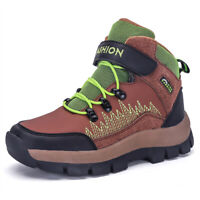 Kid's Boy's Snow Boots Hiking Shoes Casual Winter Warm Walking Sneakers Outdoor