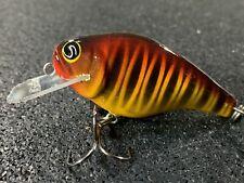 Kneller Lures - SBC-55 Flat Bait - Custom Wood Squarebill - Sunset Tiger Color