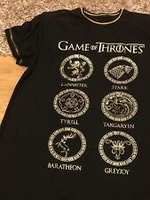 NIGHTDRESS 14/16 Black With Gold GAMES OF THRONES . GOLD OFFICIAL BYPRIMARK NWOT