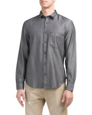 7 For All Mankind Long Sleeve Herringbone Gray Casual Shirt Size Large RP $159