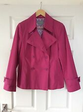 Per Una~Deep Rose Pink Casual Jacket~Double Breasted~size 10~fab condition