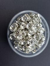 50-crystal on silver 8mm wedding rings