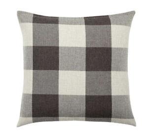 *2 Pack* Indoor/Outdoor Farmhouse Buffalo Check Pillow Case Brown Fall 18x18