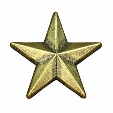 Pin goldener Stern Bottom 15 mm Anstecker Anstecknadel gold goldfarben