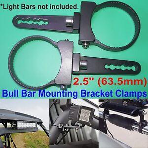 2.5 inch Tube Bull Bar/Roll Bar Mount Bracket Clamps for Off Road LED Light Bar