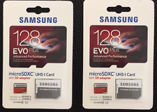 2pc New 128GB EVO PLUS Micro SD Micro SDHC 80MB/s UHS-I Class10 Memory Card.