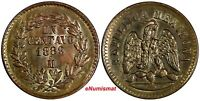 Mexico Copper 1889 Mo 1 Centavo Mexico City Mint aUNC KM# 391.6 (17 684)